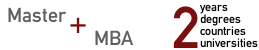 M.A. + MBA Double Degree Program